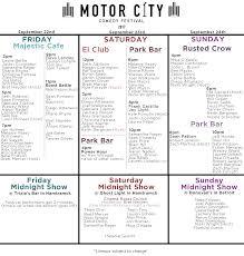Halloween City Jackson Mi by Motor City Comedy Festival 2017 Tickets Fri Sep 22 2017 At 7 00