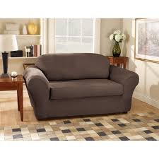 Sure Fit Sofa Covers Walmart by Sure Fit Suede Sofa Stretchable Slipcovers Walmart Com
