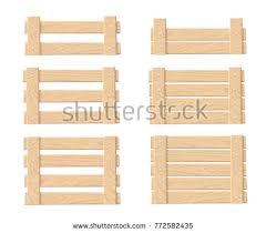 3D Wooden Crate Vectors