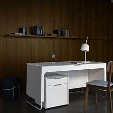 cinna bureau wood veneer desk contemporary with storage by éric jourdan