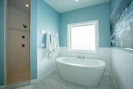cottage master bathroom with wainscoting master bathroom in