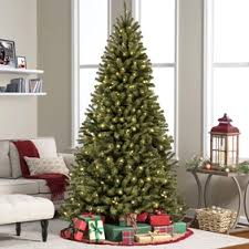 NorthLight 9 Inch Pre Lit Flocked Upside Down Artificial Christmas Tree
