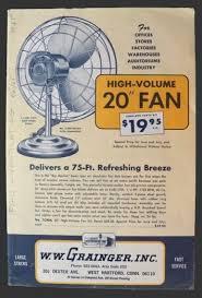 1965 Vintage Grainger Electric Fans Catalog