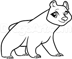 How To Draw Mama Bear From Brave Step 8