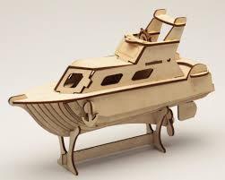 laser cut puzzle model yacht l toy pinterest laser