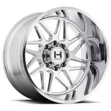 100 8 Lug Truck Wheels 24x14 Hostile Sprocket Chrome PowerHouse