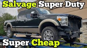100 Salvage Trucks Auction I Bought A TOTALED Ford F250 At And Rebuilt Most Of It In A Few Hours