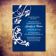 Navy Blue Rustic Engagement Party Invitations EWEI001