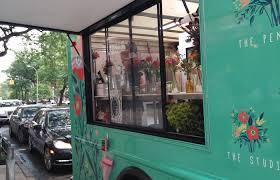 Uprooted Flower Truck Is New Yorks Curbside Florist PopUp City Sunshower Flowertruck 010653