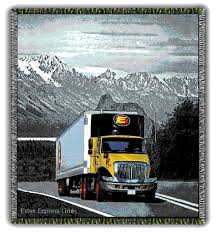 100 Estes Truck Lines Tapestry Throws OWEN GROUP WOVENS