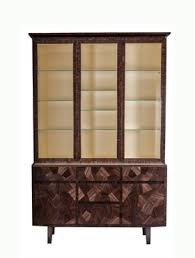 Zoom Image Dining Room Cabinet In Straw Marquetry Contemporary Wood Natural Material By Simon