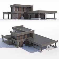 100 Picture Of Two Story House Modern Twostory House With Attached Garage And Carport 3D Model In Buildings 3DExport