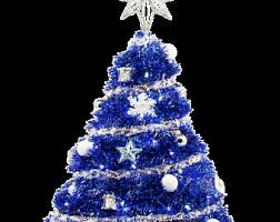 Blue Tabletop Tinsel Christmas Tree W LED Lights Decor Ornaments Mini Pre Lit
