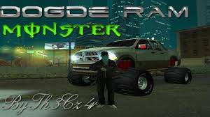 Dodge Ram Monster Truck 2012 By Th3Cz4r [GTA San Andreas] - YouTube Grand Theft Auto San Andreas Review Gamesradar Subaru Legacy 1992 Monster Truck Gta Ford F350 Super Duty For Burrito Monster Sound New Handling Gta5modscom Nissan Skyline R32 4 Door Stretch Blue Thunder E250 By Pumbars Egoretz Gta Mods Maximum Destruction Infernus