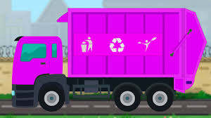 Pink Garbage Truck Formation And Uses | Children Nursery Rhymes For ...