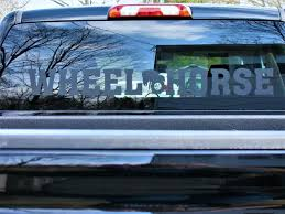 WHEEL HORSE TRUCK WINDOW DECAL FLAT BLACK - Redo Your Horse Princess Auto Die Cut Vinyl Cartruckwindow Decal Bumper Etsy 19972018 F150 American Muscle Graphics Perforated Real Flag Rear 2018 Hot Sale Cool I Am The Stig Window Truck Sticker Amazoncom Dabbledown Decals Large Dirty Money Car 9719 Lrtgrapscompanytruckseethroughwindowdecalvehicl Flickr Ford Skulls Gatorprints New 26 Examples For Cars And Trucks Mbscalcutechcom Jdm Tuner Window Decal Stickers Your Car Or Truck Youtube Attention Whore Sexy Girl Friend Best In Calgary
