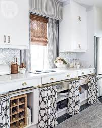 Best Kitchen Idea With Open Cabinets Black White Curtains