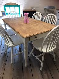 Shabby Chic Farmhouse Table And Chairs 30 Best Ding Room Decorating Ideas Pictures Of Diy Projects Chalk Paint Table Makeover Sarah Joy How I Used An Old Wood Ding Table Outside Songbird Painted Sets Great Fniture Trading Company And Chairs Hand Mexican Ikea Bentleyblonde Farmhouse Set About Bench Igpeuk Artime Farmhouse And 4 Chairs 180cm X 91cm Rustic Oak Painted In Wimborne White