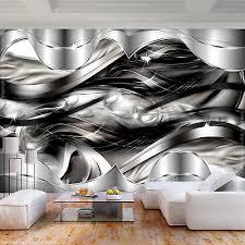vlies fototapete abstrakt 3d effekt diamant schwarz silber