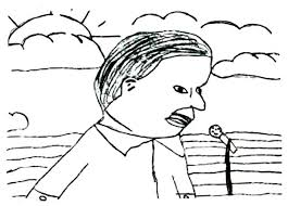 School Student Drawing Martin Luther King Coloring Page
