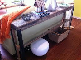 Narrow Sofa Table With Drawers by Upcycling Plank Sofa Table U2013 Fish U0026 Bicycles