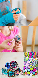 DIY Duct Tape Flower Pens An Easy Video Tutorial For Kids By I