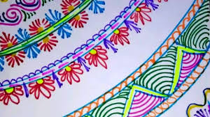Drawing Of Designs For Chart Paper Easy Simple And Attractive Border