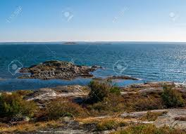 100 Gothenburg Archipelago Rocky Island In The Southern On A Clear