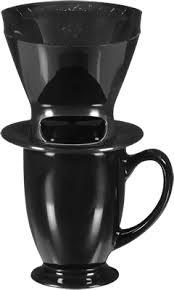 1 Cup Pour Over Coffee Brew Cone Ceramic Mug Set