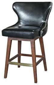 Black Leather Bar Stools by Stools Black Leather Bar Stool Chair Estelle Black Leather