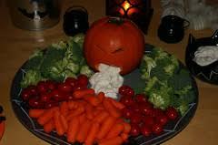 Vomiting Pumpkin Dip by Creative Veggies Healthy Halloween Party Food Ideas 365 Halloween