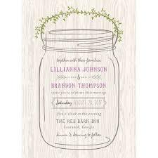 Mason Jar Standard Wedding Invitation