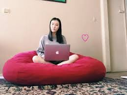 BEAN BAG CHAIR IS LOVE♡ - MINJIN The Radical History Of The Beanbag Chair Architectural Digest Giant Bean Bag 7 Foot Xxl Fuf In And 50 Similar Items How To Make College Fniture Work An Adult Apartment Best 2019 Your Digs Large Details About Black Dorm New Faux Suede 8foot Lounge Decorate Pink Loccie Better Homes Gardens Ideas Amazoncom Ahh Products Cuddle Minky White Washable