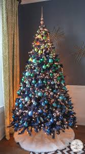 Christmas Tree Decorating Ideas Ombre Effect With Ornaments