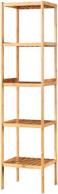 möbel badregal bambus schmal bad badezimmerschrank 5 ablagen