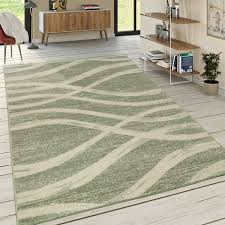 designer teppich wellen muster grün