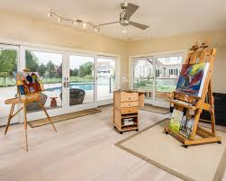 Contemporary Pool House Traditional Home Office Philadelphia Flooring Materials