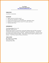 Resume Title Examples For Bank Teller Cover Letter Sample