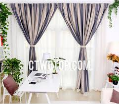 Navy And White Striped Curtains Uk by Unique Insulated Beige And Navy Striped Curtains