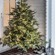Artificial Christmas Trees Uk 6ft by 6ft Prelit Grandis Fir Christmas Tree Lights4fun Co Uk