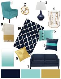 Teal Gold Living Room Ideas by Color Inspiration Navy Aqua And Gold Color Inspiration Aqua