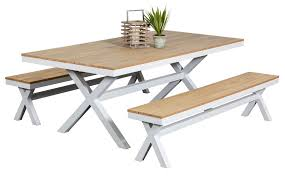 Maine Bench Set Outdoor Dining Furniture Settings Table And