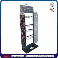 TSD M185 Custom 4 Side Rotating Merchandise Display Racks Pegboard Floor Spinner