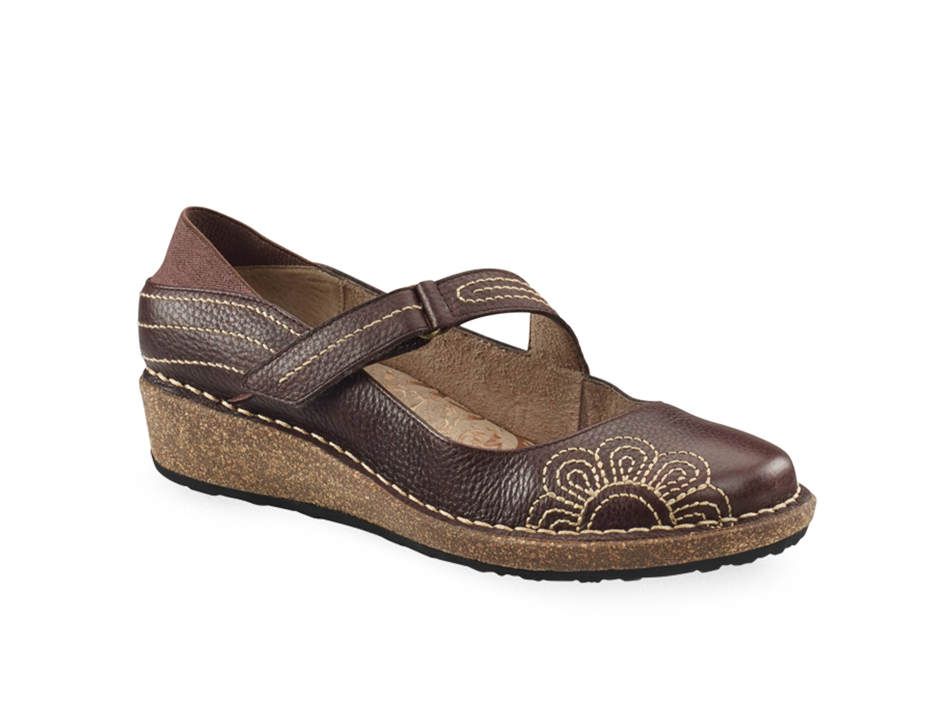Aetrex Women's Talia Mary Jane, Brown