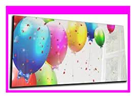big discount dekoglas glas magnettafel luftballons
