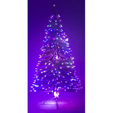 4 Ft White Artificial Holiday Christmas Tree W Fiber Optic Multi Colored Light