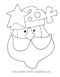 Free Printable Snowman And Santa Claus Coloring Pages