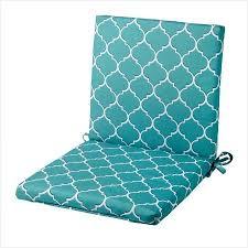 Teal Trells Indoor Outdoor Mid Back Chair Cushion Do