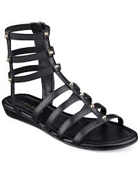 marc fisher pritty flat gladiator sandals in black lyst