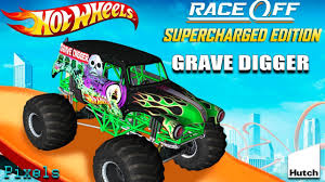 100 Godzilla Monster Truck Hot Wheels Race Off Grave Digger YouTube